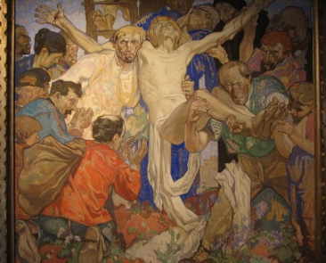 (Arentshuis) Descent from the Cross, Frank Brangwyn, 1924, tempera